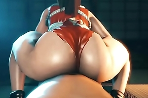 red hentai girl with big ass gets fucked