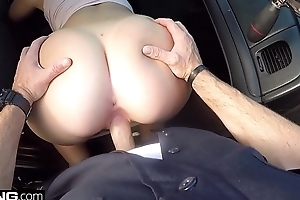 Screw The Cops - naughty thick white girl has sex in a cop automobile