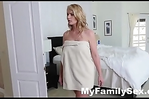 HORNY HOUSEWIFE FUCKS STEPSON WHILE HUSBAND SLEEPS- MyFamilySex.com