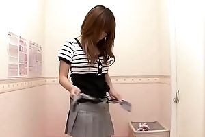 Shy japanese bought new lingerie