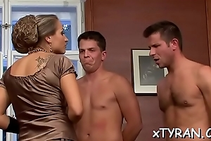 Hot spoil gets absorbed in some real hot thraldom fetish action