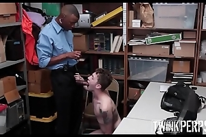 Straight Blonde Twink Fucked By Black Gay Security Guard After Enmeshed Stealing Sunglasses
