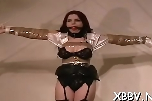 Bulky female fastened up and forced to endure bdsm xxx