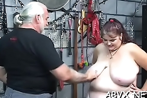 Woman endures heavy servitude sex at home in amateur video
