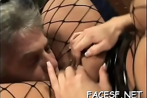 Hot gals gets her ass worshipped increased by licked by a strange guy
