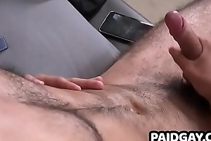 Straight young man hither hairy body solo masturbation
