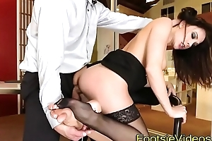 Office babes feet spunked