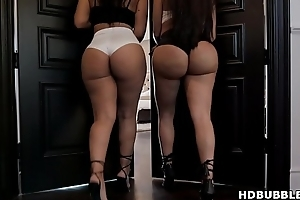 Big ass latinas sharing a big black cock - Lela Star, Rose Monroe and Rob Piper