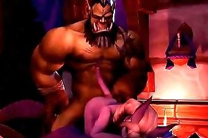 3D cartoon hentai - Orck with big unearth is nailing small sexy dark elf milf - www.its3D.fun - animated 3D porn