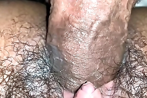Shooting inside Colombian hairy pussy