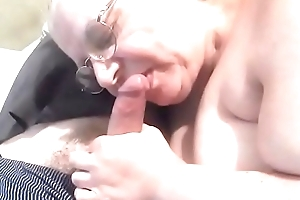 Mother inlaw sucking cock
