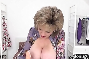 Unfaithful english mature gill ellis showcases her giant globes