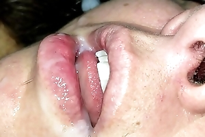 Cum in my wife'_s resting mouth pt. 2
