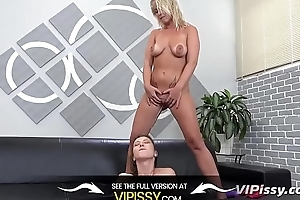 Vipissy - Lesbians share their piss and a vibrator