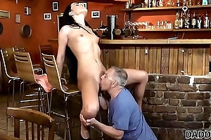 DADDY4K. Old and young lovers strive fun when athletic boy catches them