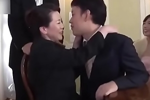 Ryoko Murakami - wedding day! Busty mother in law fucked by descendant in law