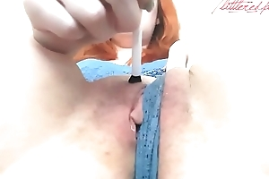 CLOSE UP MAKE-UP BRUSH ORGASM WITH LittleRedPanty!