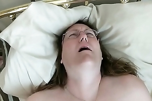 Fatty In Glasses Thudding Her Pussy For Bf'_s Pleasure
