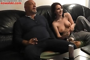 Old ugly guy eats pussy of his niece