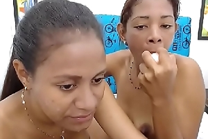 Hot girls spit in their mouth each others and play with dildo until vomit!