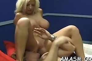 Boy gets atm act in real amateur female domination show