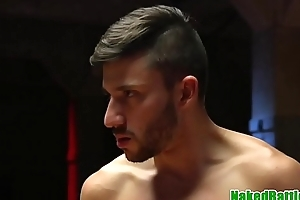 Wrestling stud assfucked and gets cock jerked