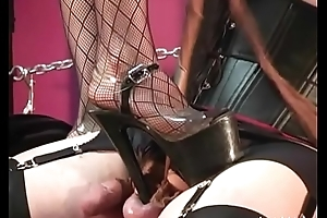 Pantyhose CBT and Ballbusting