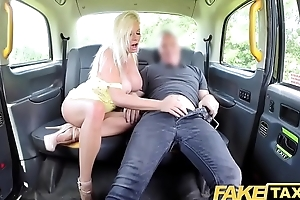 Fake Taxi Big heart of hearts blonde Michelle Thorne greedily sucks and fucks