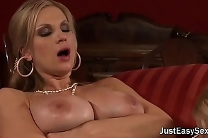 Busty Blonde Cougars Have Lesbian Sex