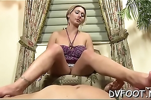 Hot foot fetisj play with sweetheart fingering while feet licked