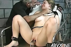 Wicked thrashing and sex in amateur vassalage video