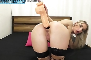 Russian blonde deep anal dildo and gaping - claimfreeproducts.com