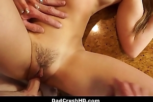 Cute Teen Step Daughter Taylor Sands Wears Her Mom'_s Clothes To Seduce Her Step Dad POV