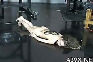 Big chest hotties bizarre bondage non-professional porn play