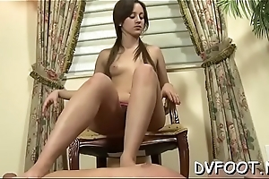 Sexy foot fetisj act with hot honey getting hooves licked