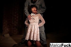 Marica gets stripped and fondled in be transferred to basement