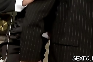 Excellent fully clothed sex scene with irresistible sweethearts