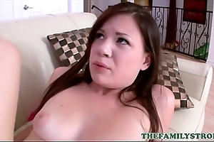 Virgin Teen Step Daughter Alison Rey Orgasms While Letting Her Step Dad Fuck Her While He Teaches