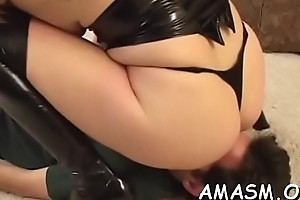 Horny sweethearts sharing dong in female domination xxx