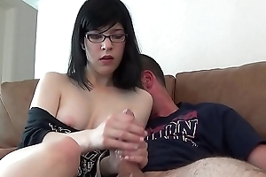 Sexy Hot Teen Babysitter Gives A Handjob