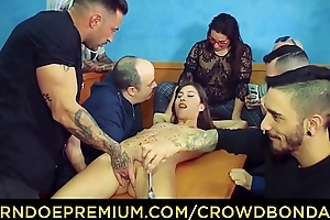 CROWD Serfdom - Group spanking and domination for Anya Krey
