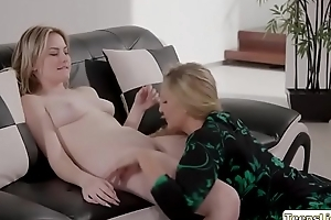 Kinky Julia and Britney adores pussy licking and scissor sex