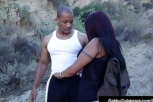 MexiMilf Gabby Quinteros Sucks &amp_ Fucks A Big Black Cock!