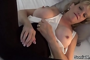 Inglorious uk milf lady sonia pops out her massive balloons