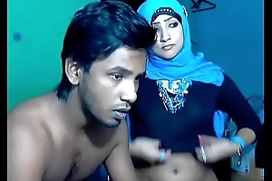 Newly Married South Indian Couple with Ultra Hot Babe WebCam Show (7)