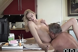 This girl has sex with her stepdad together with she is so fucking hot
