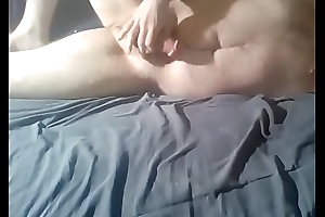 Loser with itty-bitty balls cums after playing with his little weiner, exposed for all to see.