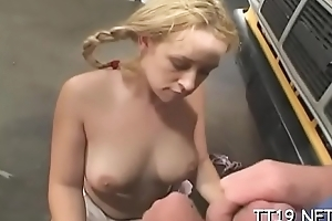Schoolgirl with miniature tits gets banged hard in lots of poses