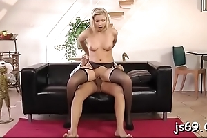 Cute sweethearts give awesome blowjob then take it up their holes