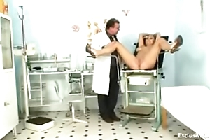 Busty Alexa Bold gyno exam with the addition of tits bondage at kinky cl